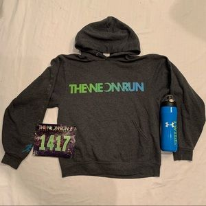 Glow in the dark neon run hoodie